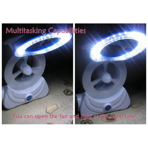 All in One RECHARGEABLE FAN  FLASHLIGHT with LED LAMP